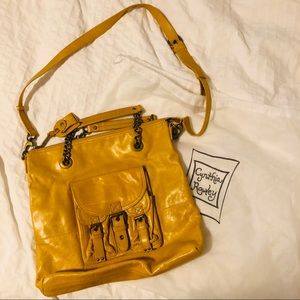 Cynthia Rowley Yellow Shoulder Hobo w/ Dust Bag